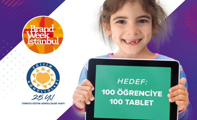 Brand Week Istanbul'dan uzaktan eğitime erişemeyen çocuklara tablet desteği