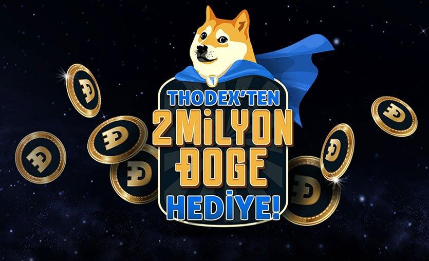 Kripto para borsası THODEX yeni üyelerine Dogecoin hediye ediyor